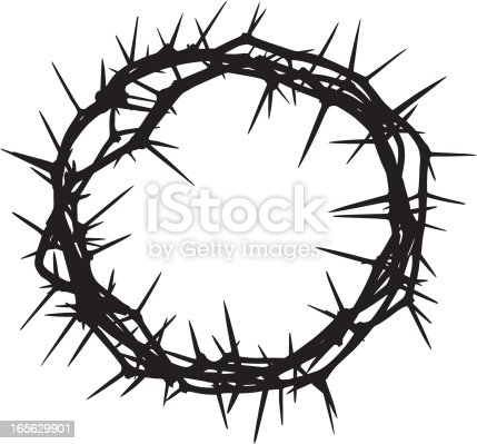 A crown of thorns silhouette.