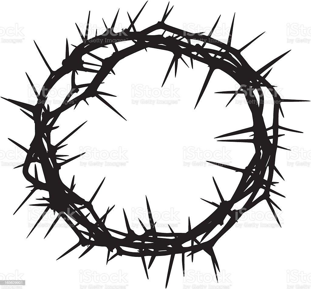 royalty free crown of thorns clip art vector images illustrations rh istockphoto com crown of thorns clipart black and white jesus crown of thorns clipart