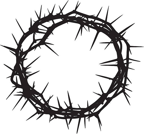 Crown of Thorns A crown of thorns silhouette. sharp stock illustrations