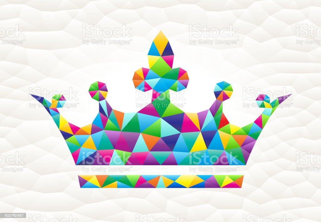Crown on triangular pattern mosaic royalty free vector art royalty-free stock vector art
