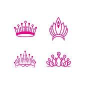 crown pageant set