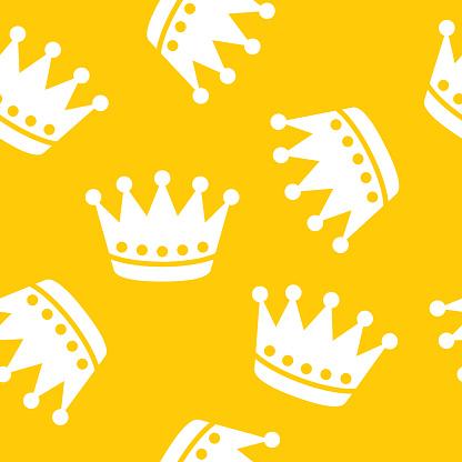 Crown Pattern Silhouette