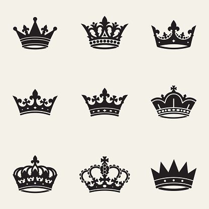 Сollection of nine different crowns