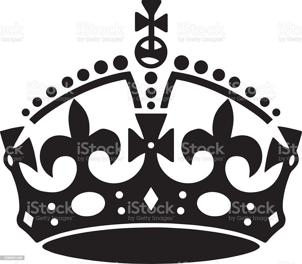 Crown tattoo vector. Men's tattoo. Women's tattoo.