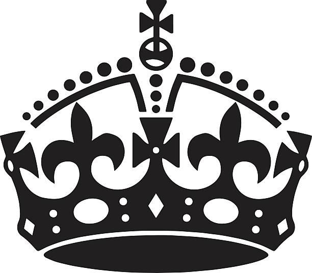 illustrations, cliparts, dessins animés et icônes de tatouage vecteur de la couronne. tatouage hommes. tatouage femmes. - couronne reine