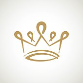 Vector stylized golden crown