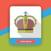 crown wear flat icon