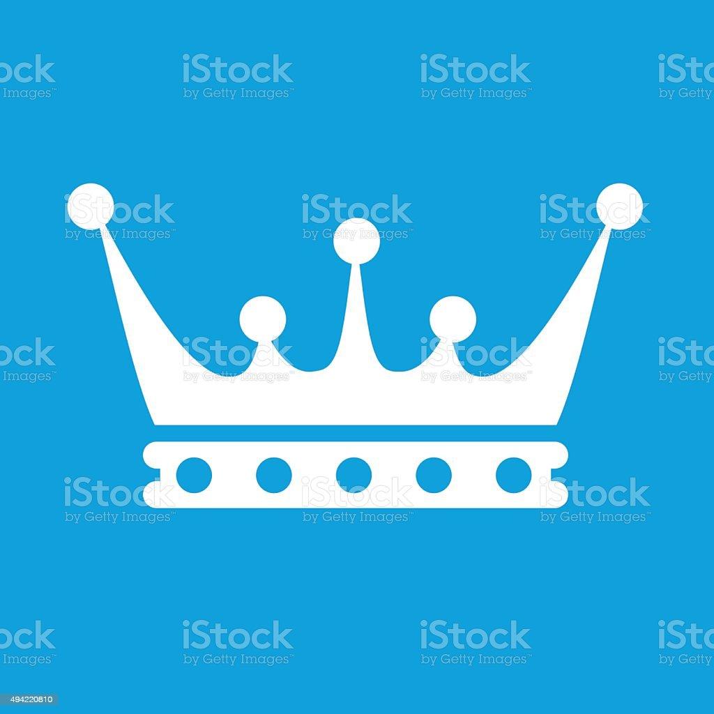 Crown white icon vector art illustration