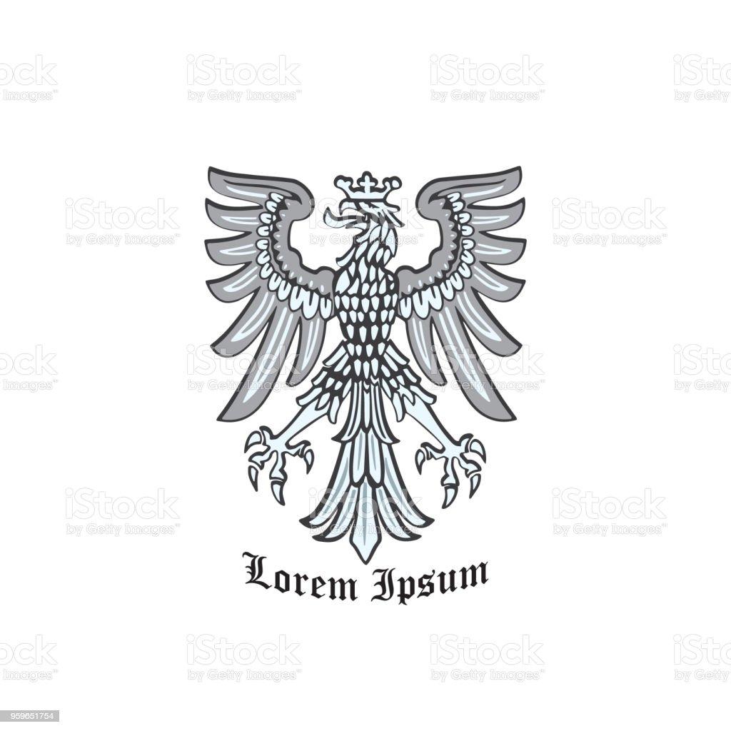 Águila coronada - arte vectorial de Abstracto libre de derechos