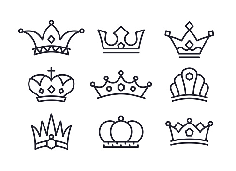 Crowns Icons and Symbols