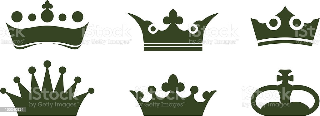 Crowns Selection royalty-free crowns selection stock vector art & more images of clip art