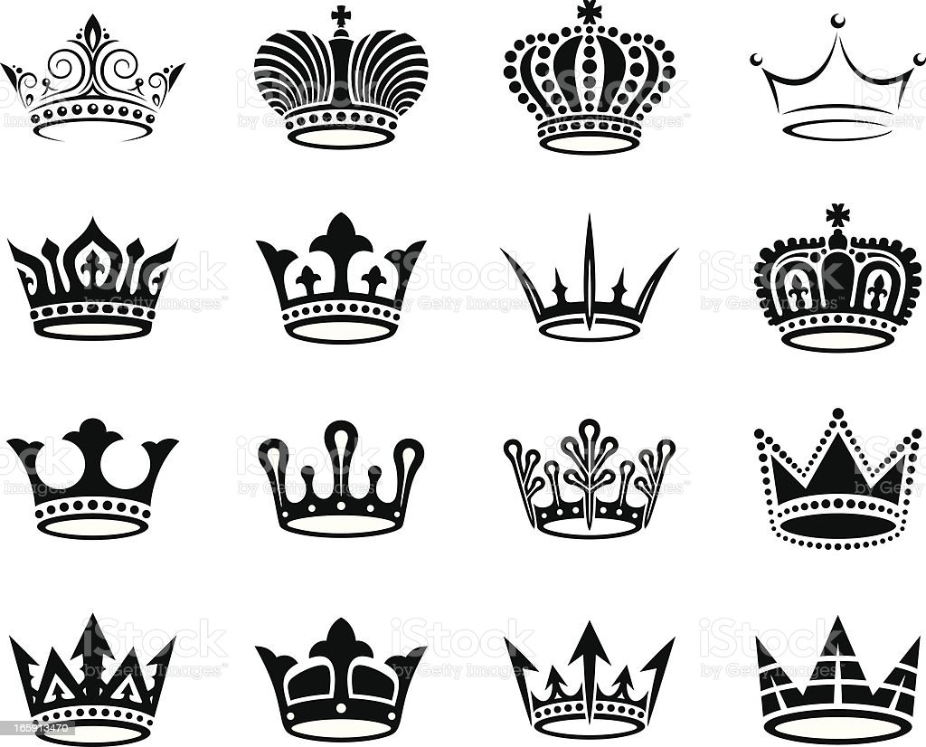 Crowns Set Stock Illustration Download Image Now Istock