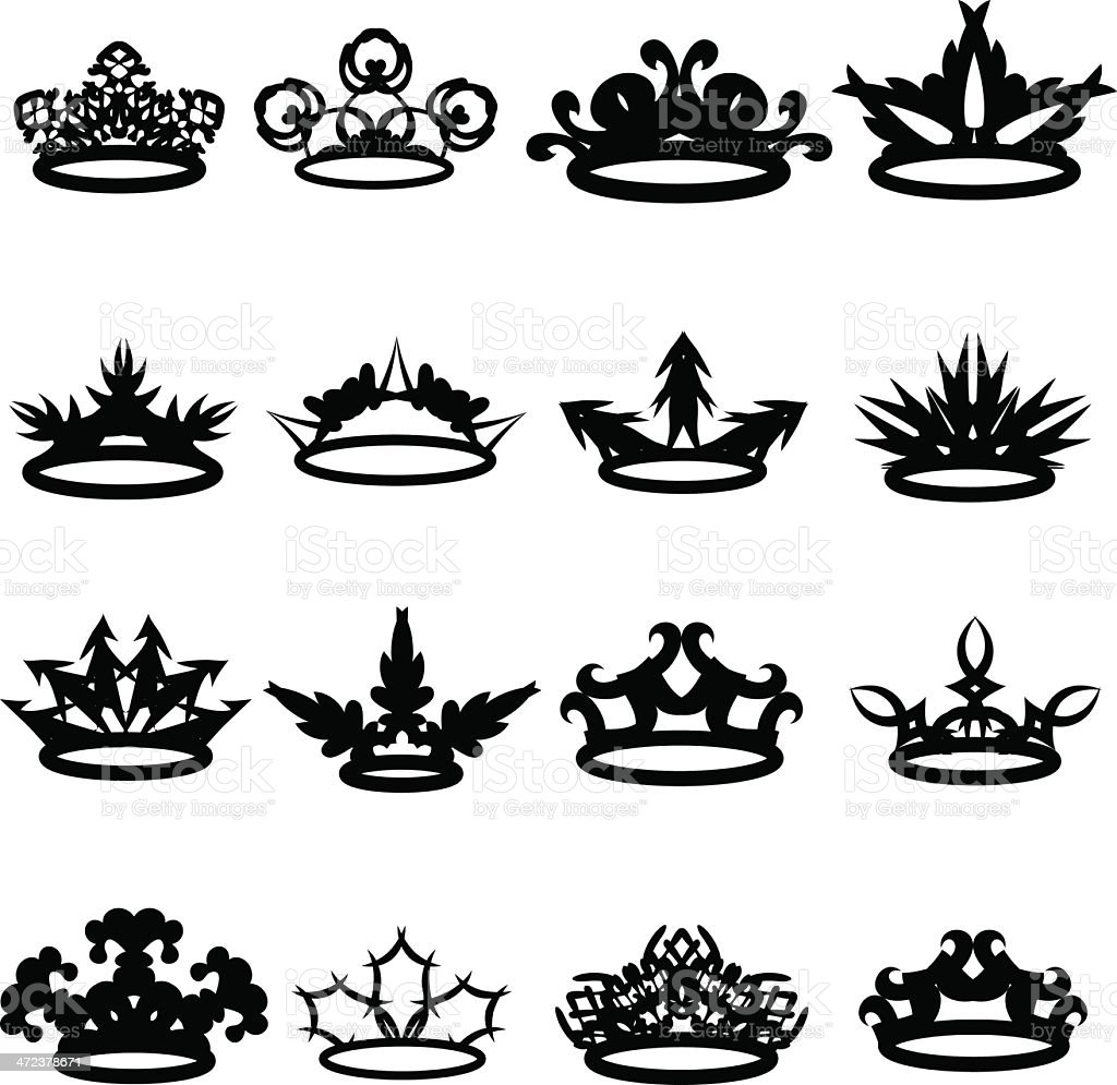Crowns royalty-free stock vector art