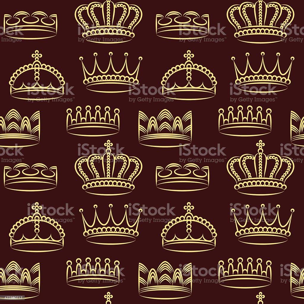 Crowns wallpaper royalty-free stock vector art