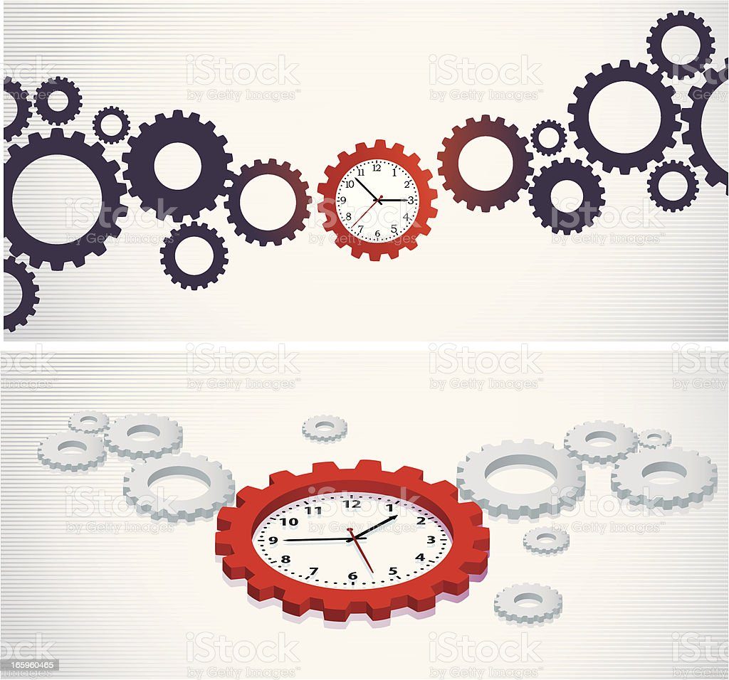 Crucial Time Banner royalty-free stock vector art