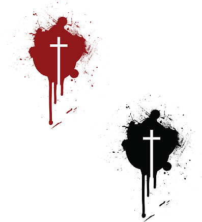 Crucifix Stain ~ Vector