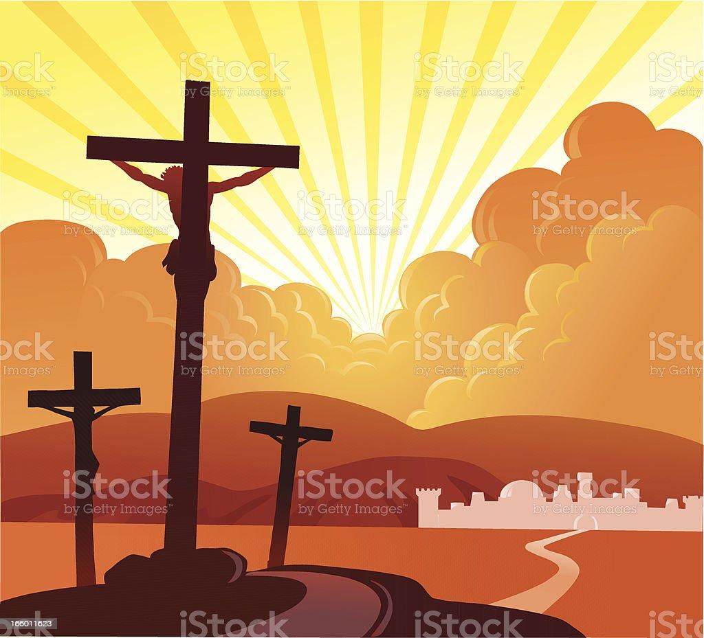 Crucifixion 2 royalty-free stock vector art