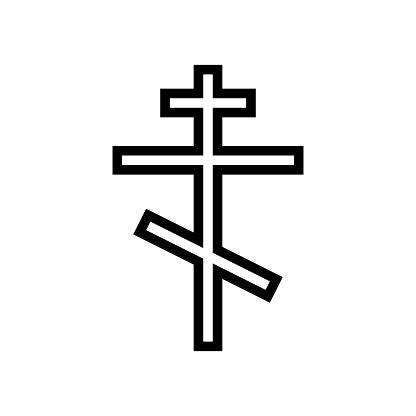 crucifixion christianity glyph icon vector illustration