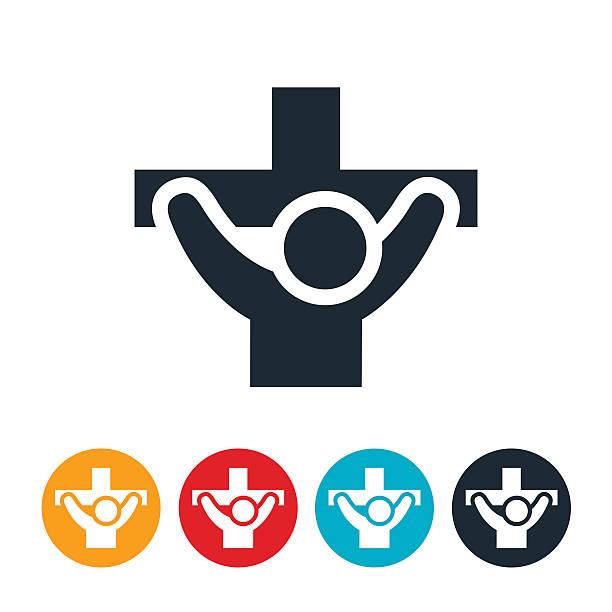 Crucifixion Icon vector art illustration