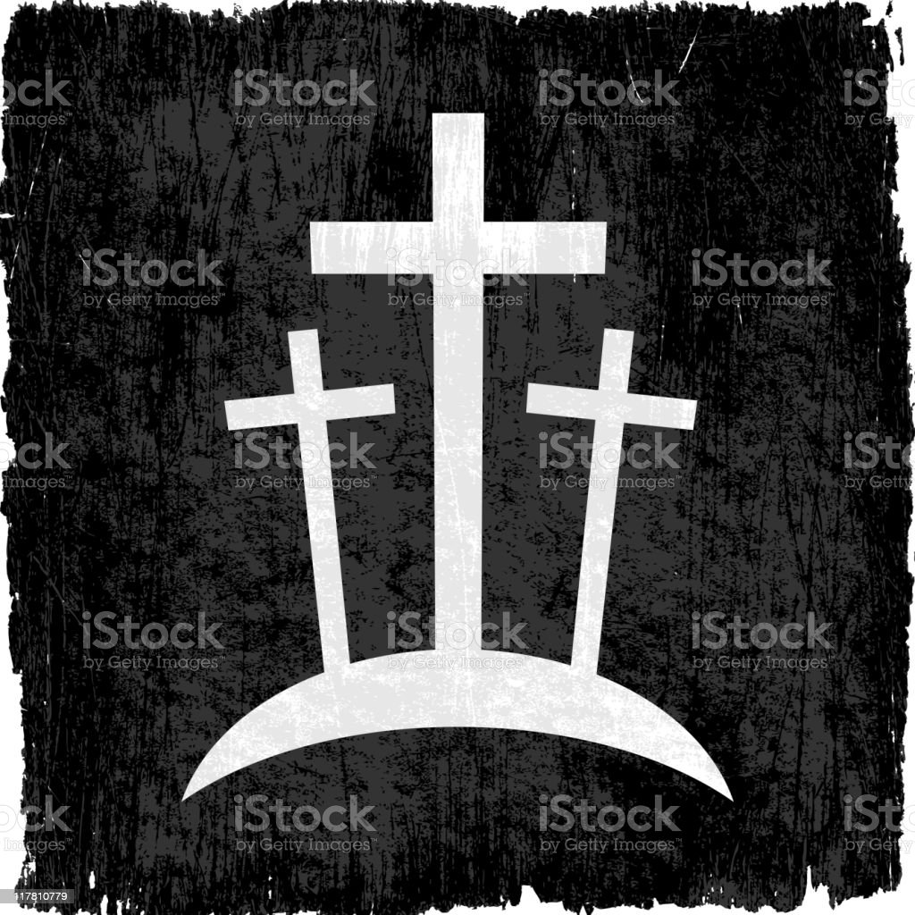 Crucifixion on royalty free vector Background royalty-free stock vector art