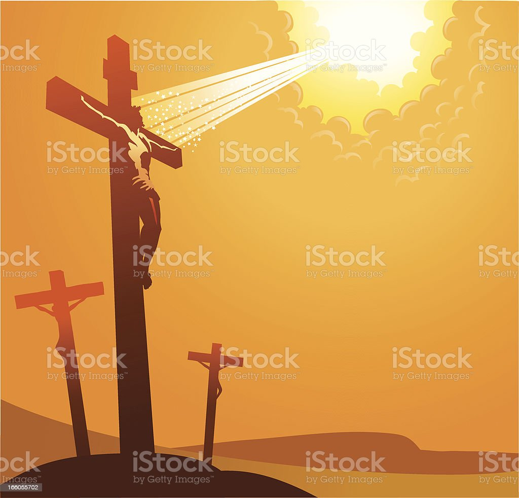 Crucifixion royalty-free crucifixion stock vector art & more images of celebration