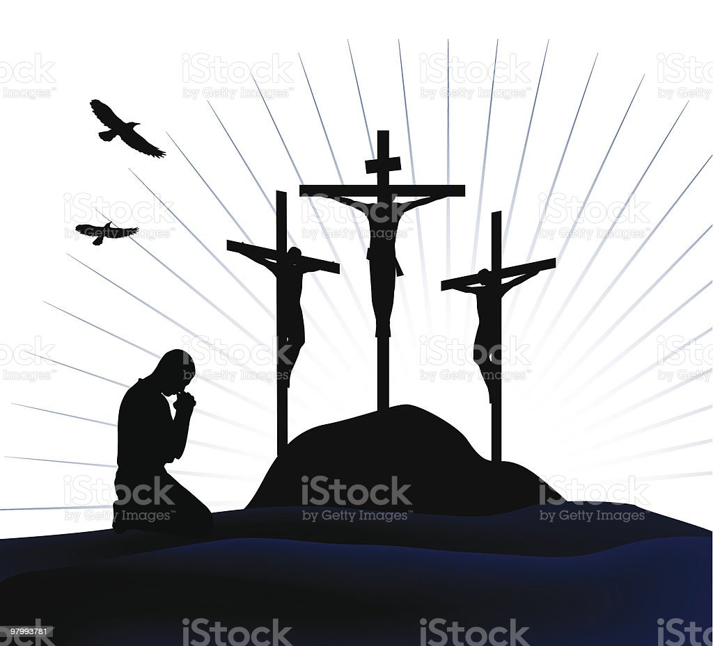 Crucifixion. royalty-free stock vector art