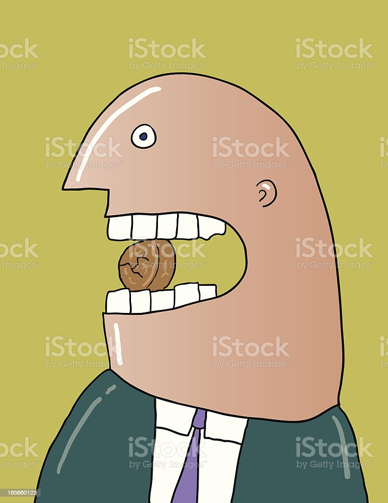 crucking nuts royalty-free stock vector art