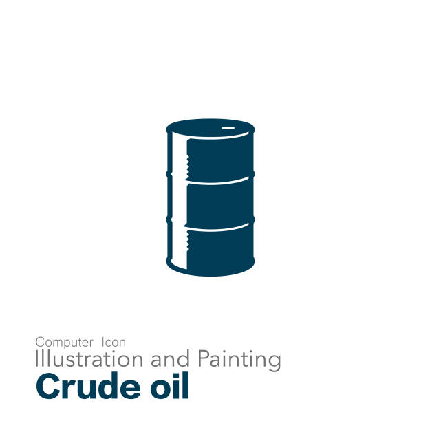 crude oil Illustration and Painting oil drum stock illustrations
