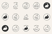 istock Cruelty Free Not Tested On Animals icons set 1309219833