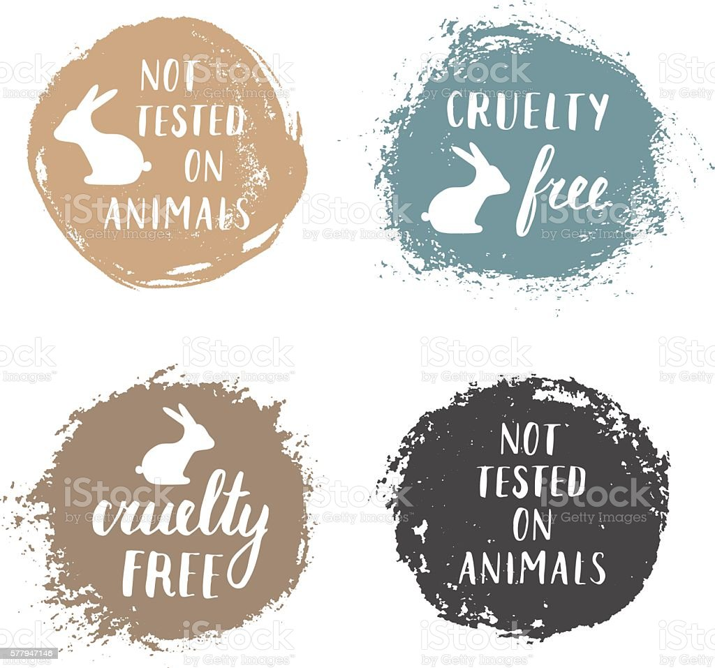 Cruelty free. vector art illustration