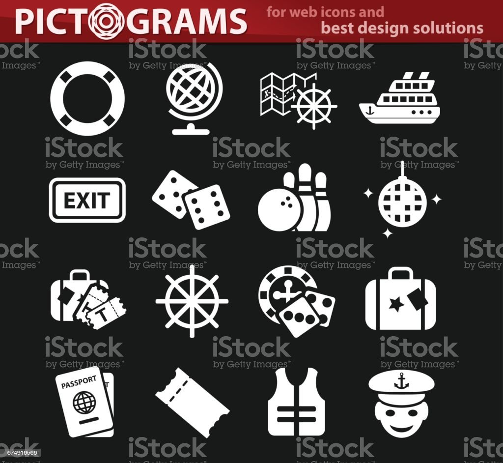 cruise icon set royalty-free cruise icon set stock vector art & more images of casino