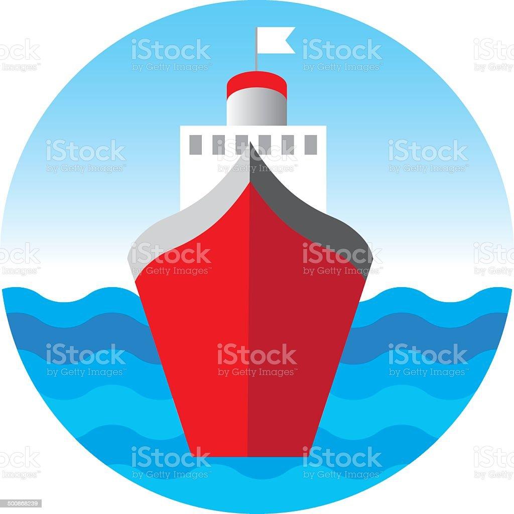 Cruise liner, cruise ship vector illustration vector art illustration