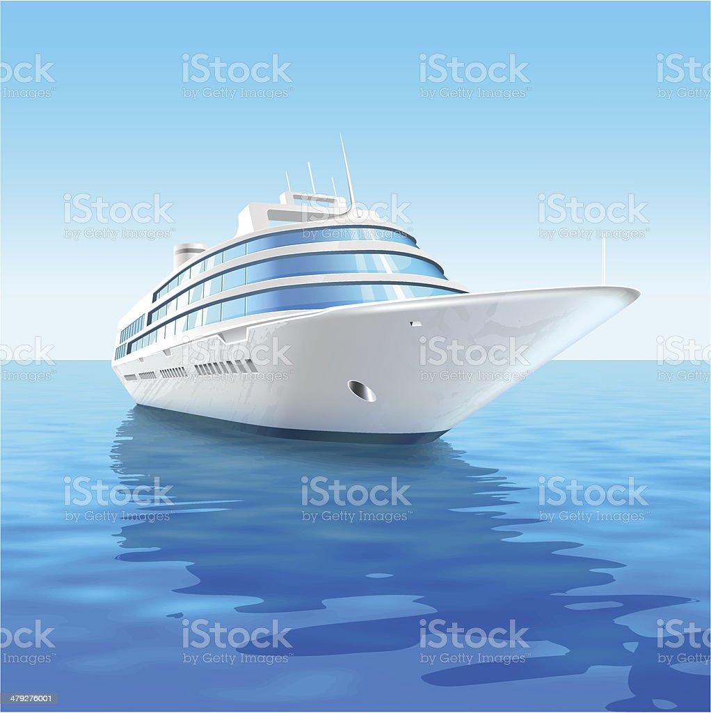 Cruise liner vector art illustration