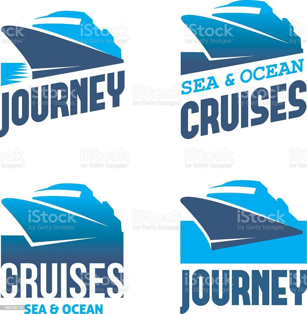 Cruise liner vector art illustration