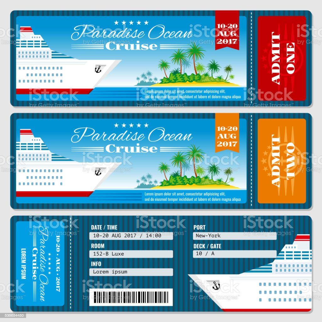 Cruise Ship Boarding Pass Ticket Honeymoon Wedding