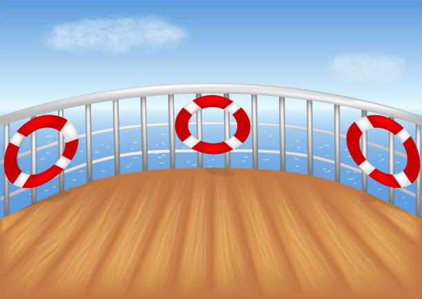 kreuzfahrt-schiff-deck - holzdeck stock-grafiken, -clipart, -cartoons und -symbole