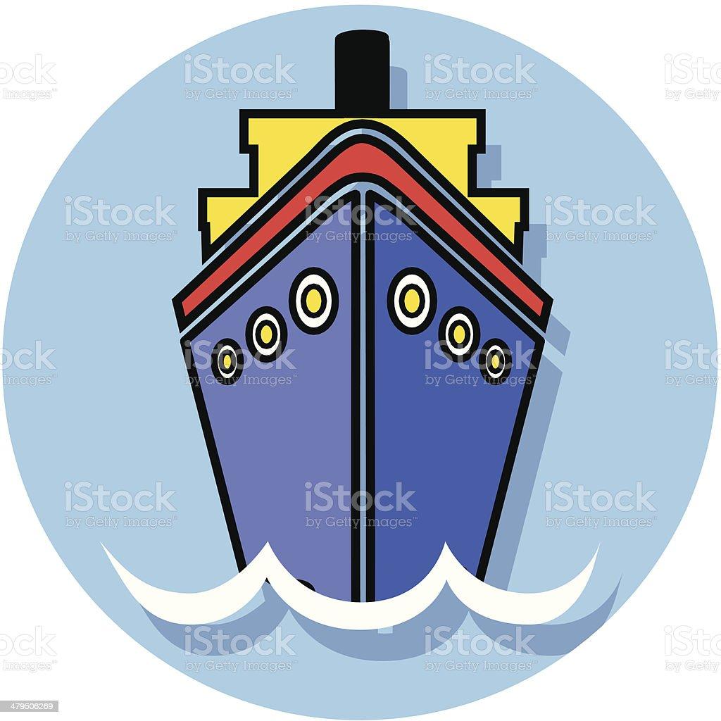 cruise ship icon royalty-free stock vector art