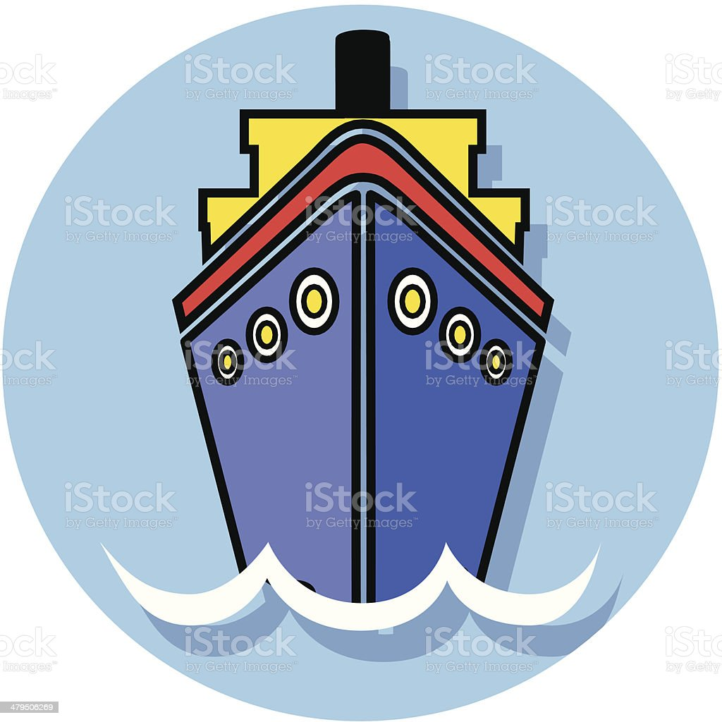 cruise ship icon vector art illustration