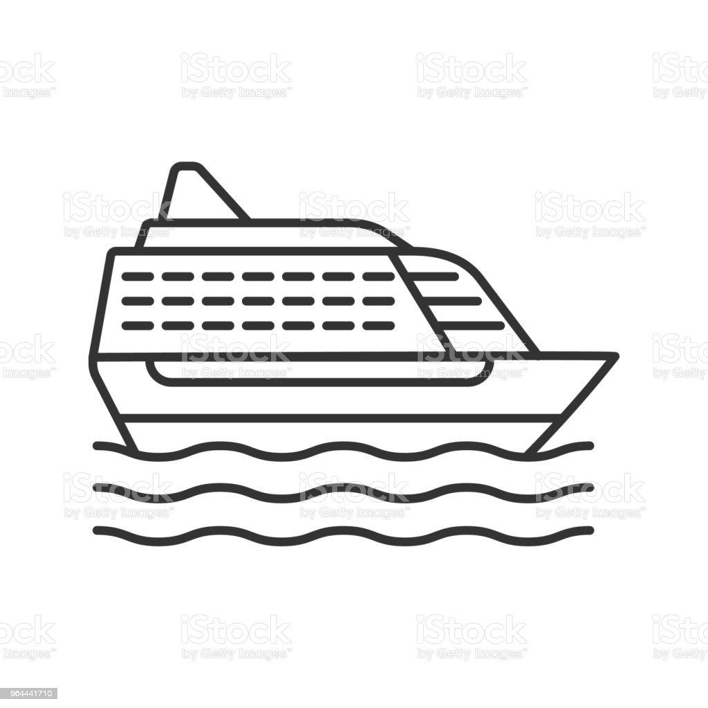 Cruise schip pictogram - Royalty-free Cruiseschip vectorkunst