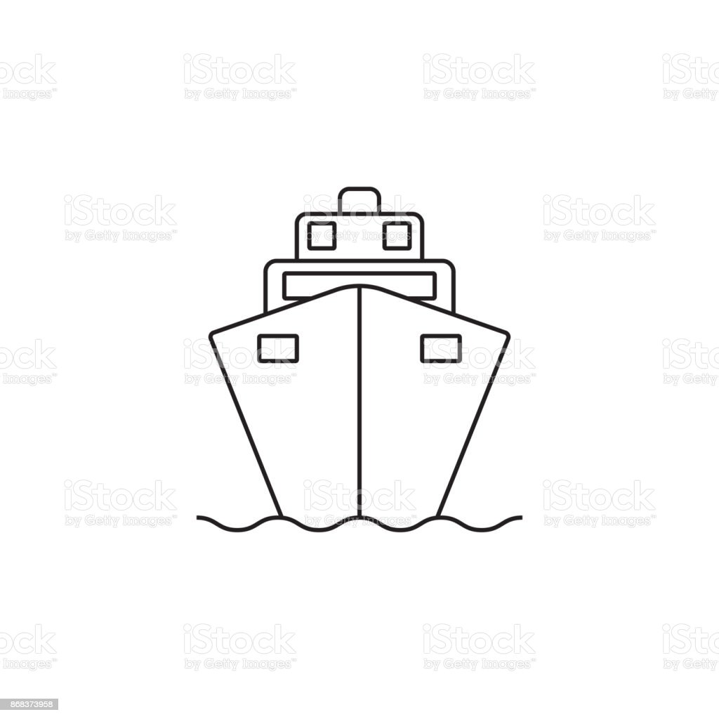 Cruise ship line icon, outline vector logo illustration, linear vector art illustration
