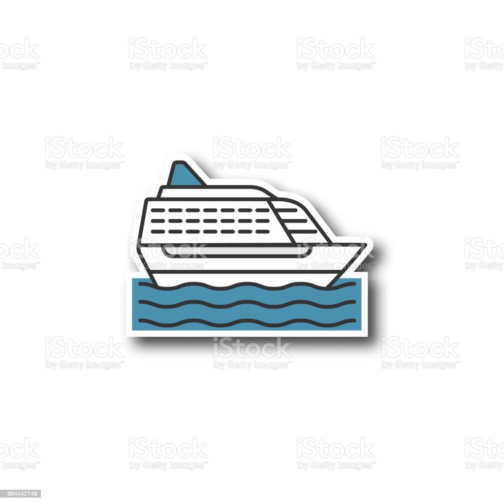 Remendo do navio de cruzeiro - Vetor de Barco de passageiros royalty-free