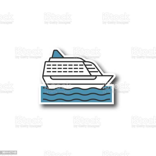 Vetores de Remendo Do Navio De Cruzeiro e mais imagens de Barco de passageiros