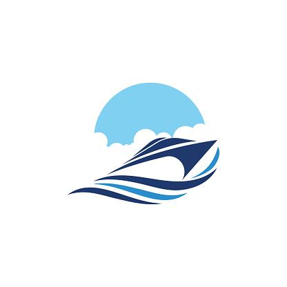Cruise ship vector icon illustration design