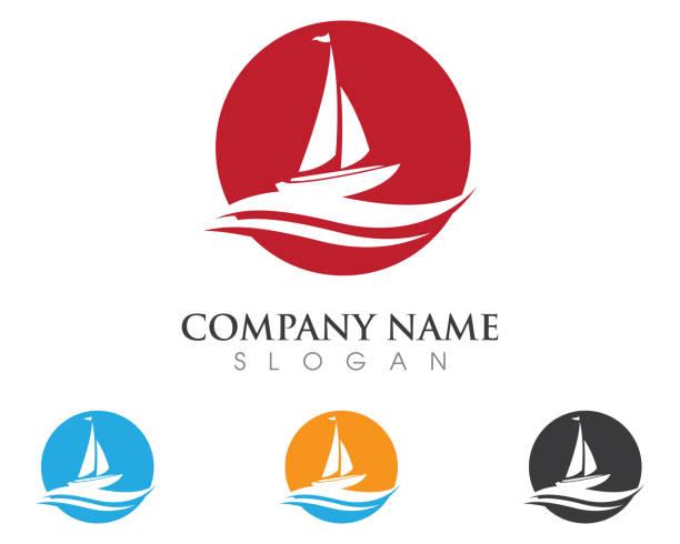illustrations, cliparts, dessins animés et icônes de navire de croisière vector icon - bateau à voile