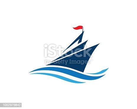 istock Cruise ship Vector icon 1052975842