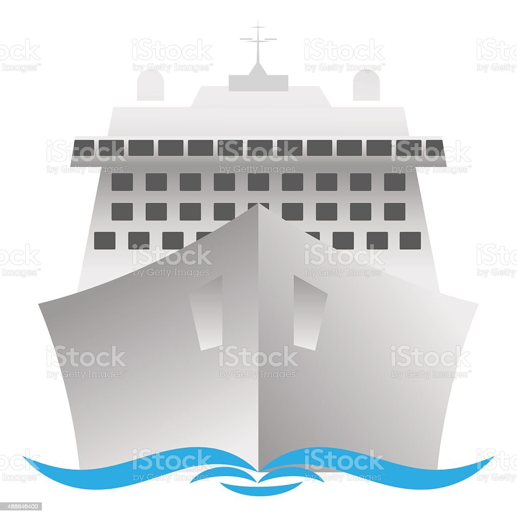 cruise ship vector art illustration