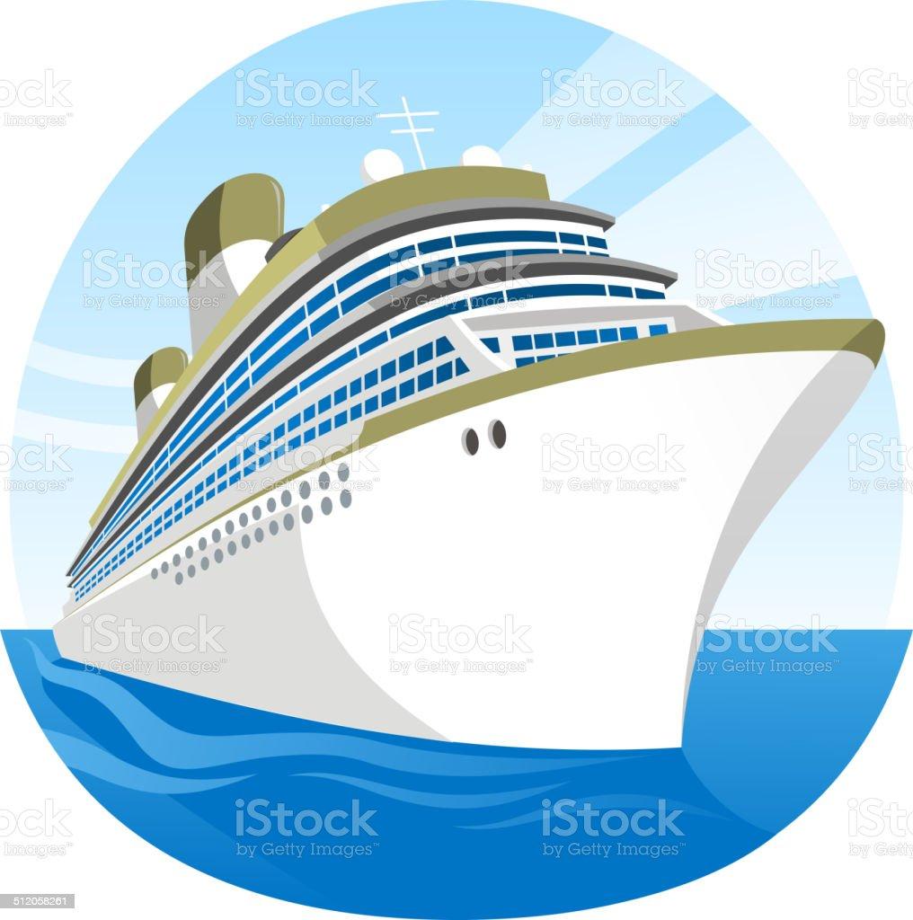 Cruise Kreuzfahrtschiff – Vektorgrafik