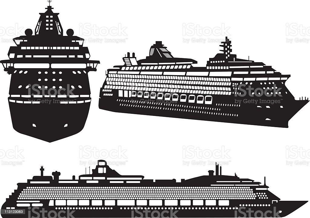 Cruise Ships (Vector) royalty-free stock vector art