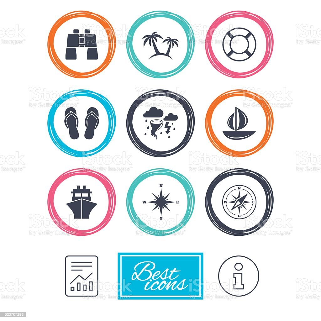 Cruise trip ship and yacht icons travel signs stock vector art cruise trip ship and yacht icons travel signs royalty free cruise trip biocorpaavc Choice Image