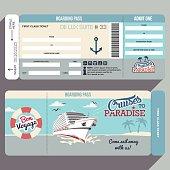 Cruises to Paradise boarding pass design